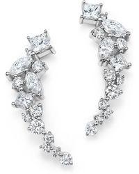 Bloomingdale's - Diamond Fancy Cut Ear Climbers In 14k White Gold, 1.0 Ct. T.w. - Lyst