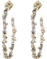Alexis Bittar - Swarovski Crystal Baguette Hoop Earrings - Lyst