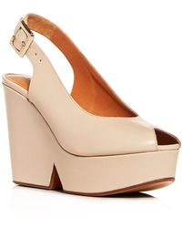 Clergerie - Women's Dylan Slingback Platform Wedge Sandals - Lyst