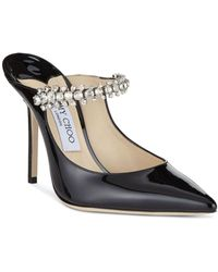 3ac603ac102 Jimmy Choo - Women s Pat 100 Embellished High-heel Mules - Lyst