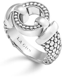 Lagos - Sterling Silver Beaded Ring - Lyst