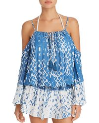 e8a337e21ee68 Surf Gypsy - Cold Shoulder Dress Swim Cover-up - Lyst