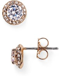 Nadri - Pavé Stud Earrings - Lyst