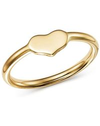 Moon & Meadow - Heart Ring In 14k Yellow Gold - Lyst