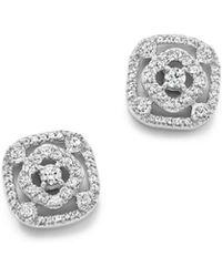 Bloomingdale's - Diamond Geometric Stud Earrings In 14k White Gold, .50 Ct. T.w. - Lyst