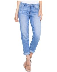 Liverpool Jeans Company - Cameron Cuffed Ankle Boyfriend Jeans In Alton - Lyst