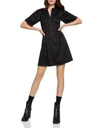 BCBGeneration - Pinstriped Zip-front Dress - Lyst
