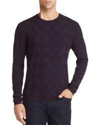 Emporio Armani - Chevron Textured Sweater - Lyst