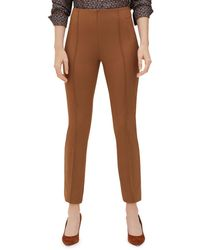 Lafayette 148 New York - Acclaimed Stretch Slim Pintuck City Pants - Lyst