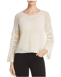 1.STATE - Lace-knit Bell-sleeve Jumper - Lyst
