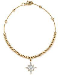 KC Designs - Diamond Starburst Bead Bracelet In 14k Yellow Gold - Lyst