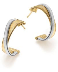 Marco Bicego - 18k White & Yellow Gold Masai Hoop Earrings - Lyst
