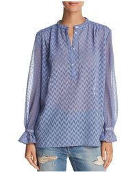 French Connection - Corsica Geometric Pattern Shirt - Lyst