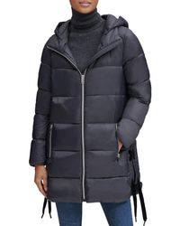 Marc New York - Packable Lightweight Side Lace-up Puffer Coat - Lyst