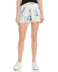 Aqua - Tie - Dye Drawstring Shorts - Lyst