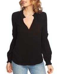 1.STATE - Smocked Trim Top - Lyst
