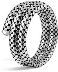 John Hardy - Sterling Silver Dot Double Coil Bracelet - Lyst