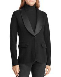 Ralph Lauren - Lauren Knit Tuxedo Jacket - Lyst