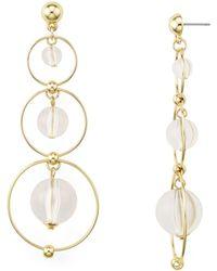 Aqua - Triple Hoop Earrings - Lyst