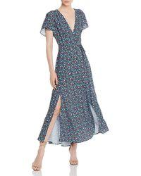 French Connection - Eden Frances Faux - Wrap Maxi Dress - Lyst