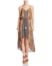 Band Of Gypsies - Native Stripe Tapestry-print Midi Dress - Lyst