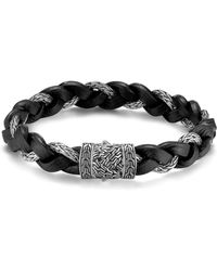 John Hardy - Men's Classic Chain Braided Leather Cord Bracelet - Lyst