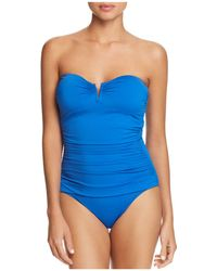Tommy Bahama - Pearl V-wire Bandeau One Piece Swimsuit - Lyst