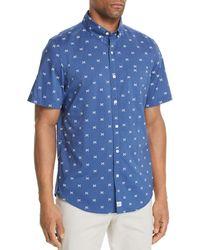 Vineyard Vines - Slim-fit Crossed Fishbone Short-sleeve Shirt - Lyst