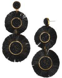 BaubleBar - Mariette Round Fringed Drop Earrings - Lyst