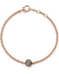 Pomellato - Sabbia Bracelet With Brown Diamonds In 18k Rose Gold - Lyst
