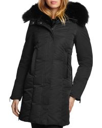 Dawn Levy - Luna Fur Trim Down Coat - Lyst