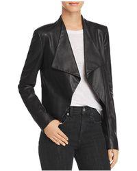 Theory - Draped Leather Jacket - Lyst