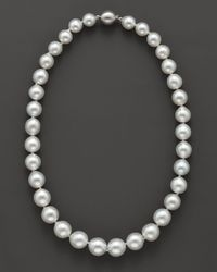 """Bloomingdale's - Cultured White South Sea Pearl Necklace In 14k White Gold, 18"""" - Lyst"""