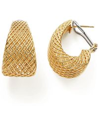 Roberto Coin - 18k Yellow Gold Silk Dome Earrings - Lyst