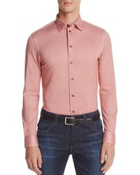 Armani - Patterned Check Classic Fit Button-down Shirt - Lyst