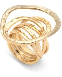 Alexis Bittar - 10k Yellow Gold Hammered Coil Link Ring - Gold - Lyst
