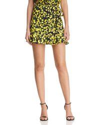 Parker - Lieanna Lemon Mini Skirt - Lyst