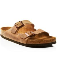 Birkenstock - Men's Arizona Oiled Leather Sandals - Lyst