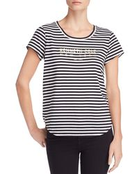 Kenneth Cole - Kam Striped Logo-graphic Tee - Lyst