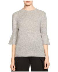 Halston - Merino Wool & Cashmere Bell-sleeve Sweater - Lyst