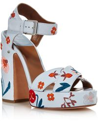 261683cafd8 Laurence Dacade - Rosange 120mm Embroidered Sandals With Chunky Heel - Lyst
