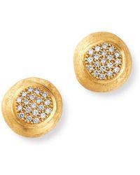 Marco Bicego - 18k Yellow Gold Jaipur Diamond Stud Earrings - Lyst