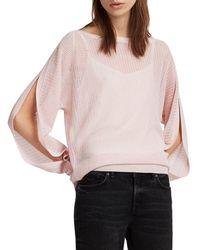 AllSaints - Elle Slit-sleeve Sweater - Lyst