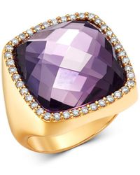 Roberto Coin - 18k Rose Gold Amethyst Cocktail Ring With Diamonds - Lyst