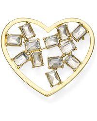 Aqua - Heart Pin - Lyst