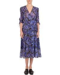3d9bac512 The Kooples Hortensia Floral - Print Silk Wrap Dress