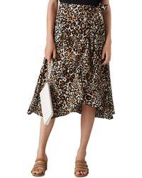 Whistles - Leopard Print Wrap Skirt - Lyst