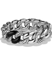 David Yurman - Belmont Curb Link Bracelet With Black Onyx - Lyst