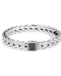 John Hardy - Men's Sterling Silver Modern Chain Medium Bracelet With Black Sapphire, 9mm - Lyst
