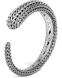 John Hardy - Sterling Silver Classic Chain Small Kick Cuff - Lyst